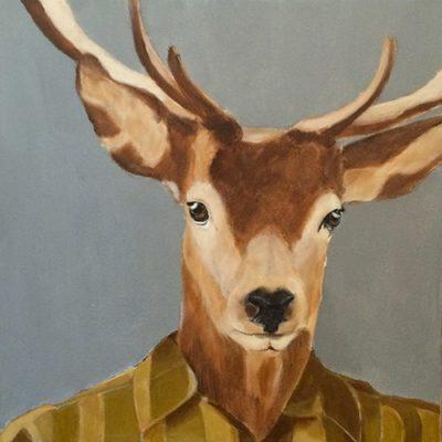 mariecolombier-peinture cerf