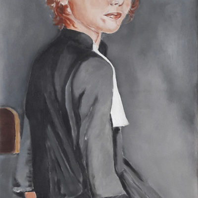 "Commande ""Quand je serai grande, je serai avocate"". Marie Colombier Acrylique sur toile. 50x80cm."