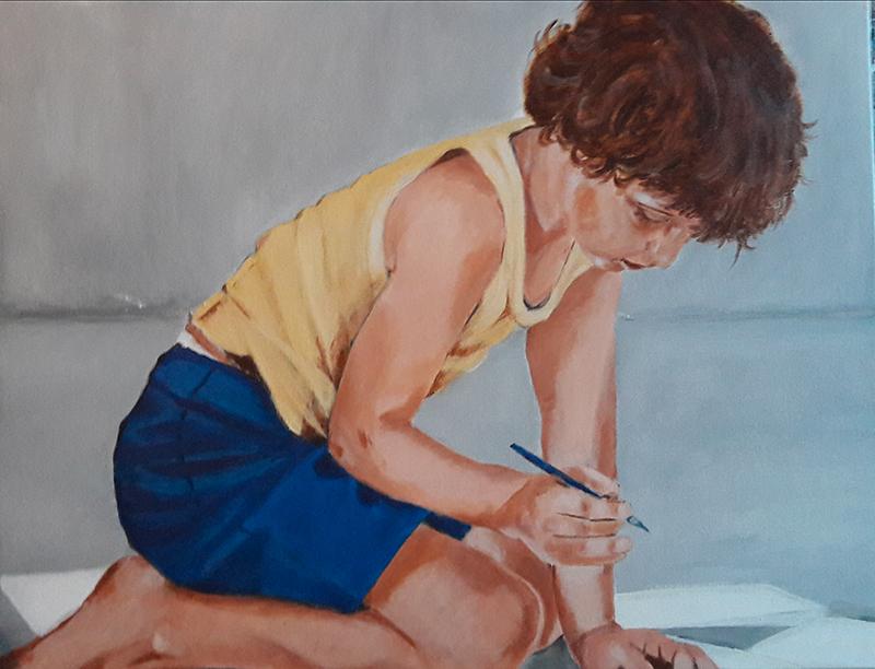 Marie Colombier Acrylique sur toile. 50x65cm. Ref 055