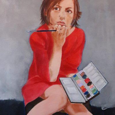 Marie Colombier Acrylique sur toile. 60x75cm. Ref 057