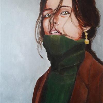 Marie Colombier Acrylique sur toile. 60x75cm. Ref 059