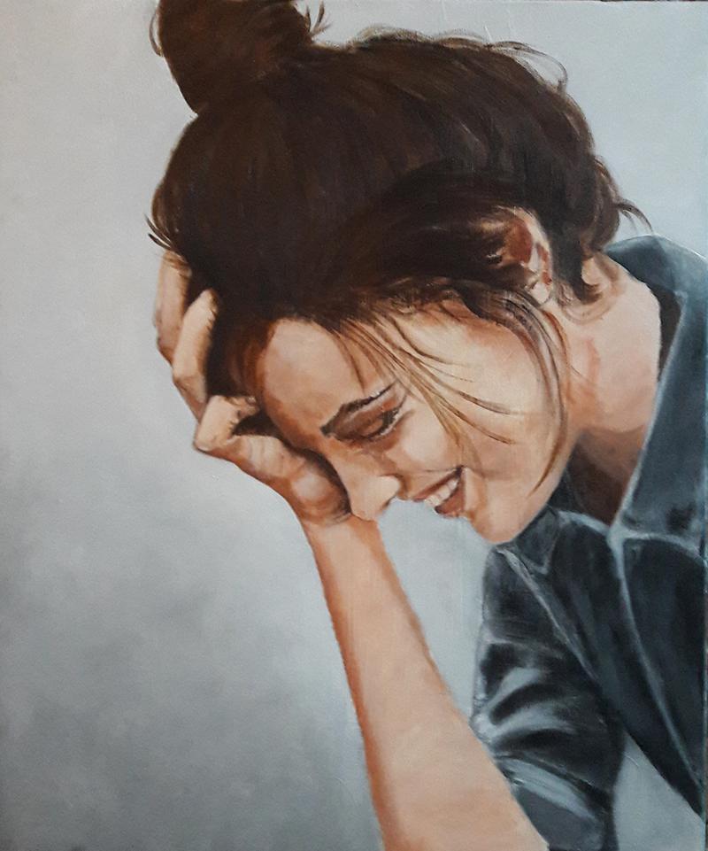 Marie Colombier Acrylique sur toile. 54x65cm. Ref 060
