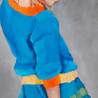 Marie Colombier Acrylique sur toile. 40x80cm Ref 062