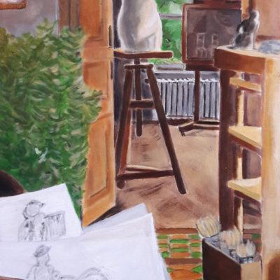 Peinture acrylique sur toile 73x100